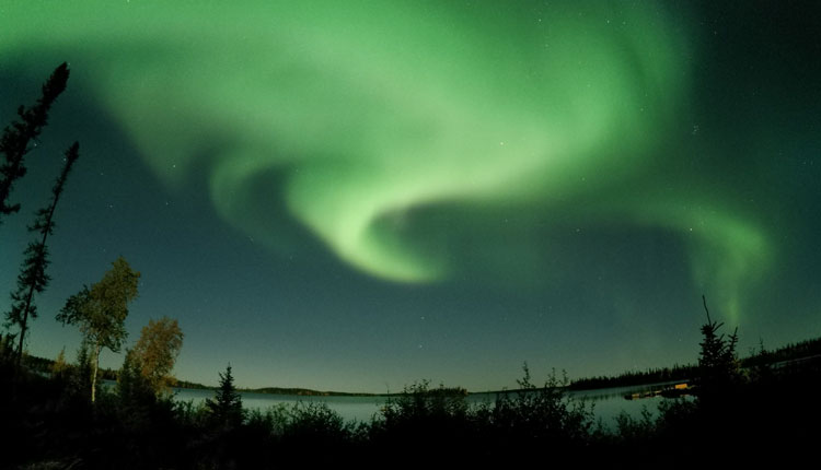 Northern Lights lake view