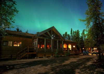 Canadian Aurora Borealis over North Seal River Lodge