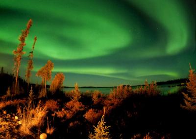 Northern Lights over Egenolf Lake